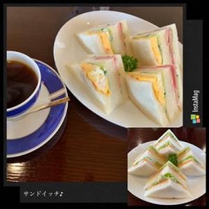 喫茶店のサンドイッチ♪ gotoイート発券!