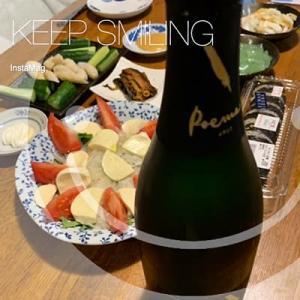 美味しいスパーリングワインと北海道の魚と♪