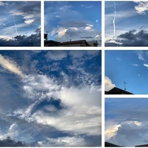 夕方は雲がキレイ!(◎o◎)! でも線上降水帯も!