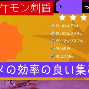 【ポケモン剣盾】アメの効率の良い集め方