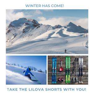 スキーやスノボにも、吸収性サニタリーショーツが便利です!
