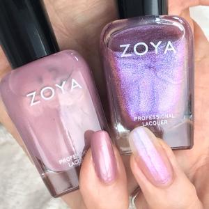 OPI ZOYA ピンクパールマニキュア色比較