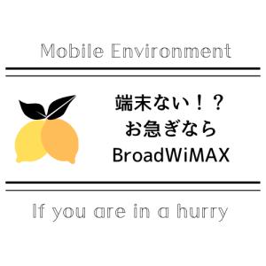 モバイル端末?「・・・あるよ」BroadWiMAXで
