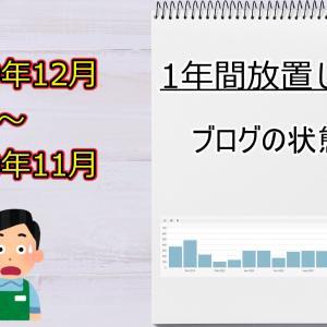 【ブログ運営状況】1年間放置するとどうなる?グラフと数値(2019年12月~2020年11月まで)