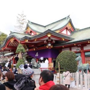 西宮神社の宵えびすに行ってきました。