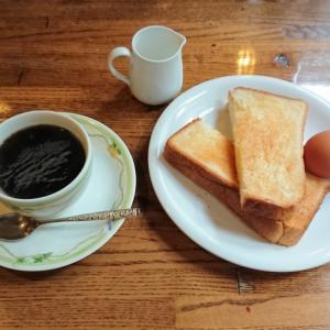 トーストのモーニング@珈琲倶楽部かるがも(大阪市北区天神橋)