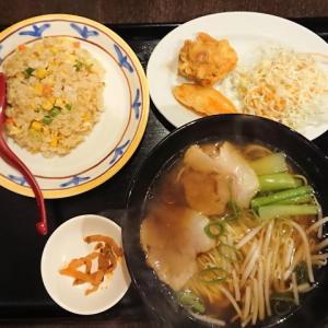 チャーシュー麺と半炒飯@チャイニーズレストランMAMA(大阪市中央区内本町)