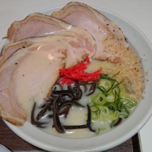 冷やし博多豚骨ラーメン@麺とかき氷 ドギャン 谷四店(大阪市中央区谷町)