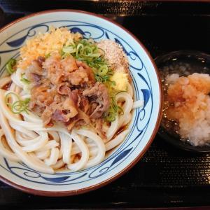 鬼おろし肉ぶっかけ(大盛)@丸亀製麺 西宮前浜店