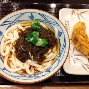 美ら海もずくぶっかけ・かしわ天@丸亀製麺 谷町二丁目店