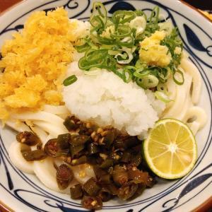 青唐おろし醤油うどん(大)+ジャンボカニカマ@丸亀製麺 谷町二丁目店