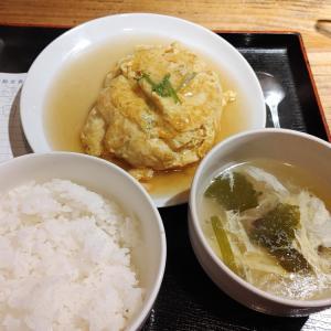 えび玉定食@みんみん谷町店(大阪市中央区谷町)
