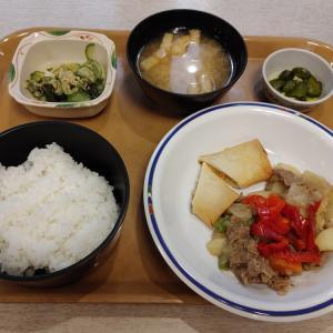 牛肉とじゃが芋の醤油炒め@食堂 待夢里(芦屋市役所)