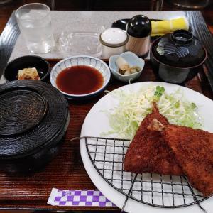 アジフライ定食@クレヨン(大阪市中央区南新町)