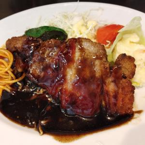 ポークチャップ@洋食のマルヤ 西元町店(神戸市中央区北長狭通)