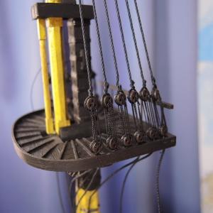 【イマイ】木製1/80 H.・M・S ビクトリー カットモデルの製⑪