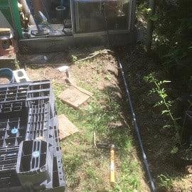 塩ビパイプの敷設工事を突貫でやっちまった!~自然庭園~