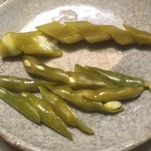 農園産インゲンの糠漬け、そして、練がらしの作り置きに初挑戦!~おやじの健康レシピ~