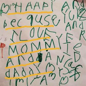 4歳年中娘 私の誕生日に書いてくれた英語の手紙 プリントがキッカケに