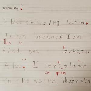 5歳年中娘  英検3級 ライティングについて②
