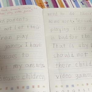 5歳 年長娘 準2級 久々のライティング練習