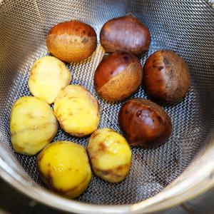 ホットクック レシピ#118:「むいてから蒸す」か「蒸してからむく」か、それが問題だ:諏訪田製作所「栗くり坊主」レビュー