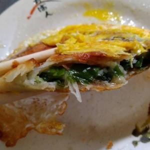 基隆|朝食は【周家蔥油餅】のネギたっぷり蔥油餅がイチ押し