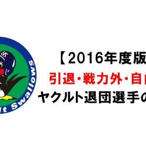 【2016年版】ヤクルト退団選手(引退・戦力外・自由契約)のその後