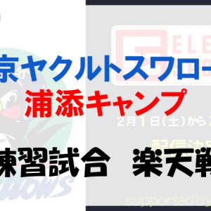 【大敗】2月19日ヤクルトVS楽天の練習試合|ヤクルトファンの反応は?