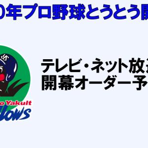 東京ヤクルト開幕戦VS中日戦のテレビ放送予定&ネット中継@6月19日