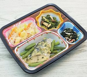 ベルーナ宅菜便・ほほえみ御膳「サワラの葱味噌焼セット」を食べました