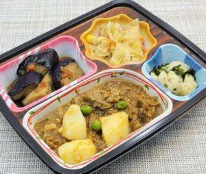 ベルーナ宅菜便・ほほえみ御膳「ビーフカレーセット」を食べました