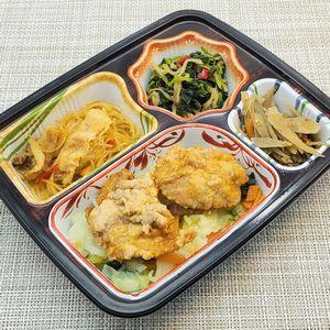 ベルーナ宅菜便・おふくろ御膳「鶏の唐揚げセット」を食べました