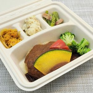 nosh-ナッシュ「ハンバーグと温野菜のデミ」を食べました