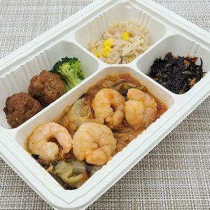ウェルネスダイニング・健康応援気配り宅配食「エビと野菜のチリソースがけ」を食べました