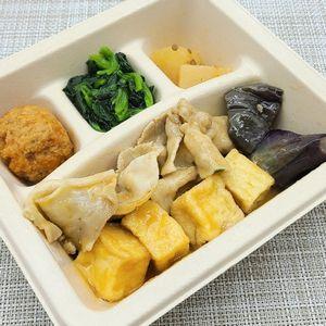 nosh-ナッシュ「豚肉と絹揚げ豆腐の中華あん」食べました