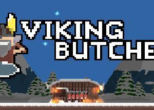 左右から来る敵を倒して夜のウェーブを乗り切るバイキングのゲーム Viking Butcher