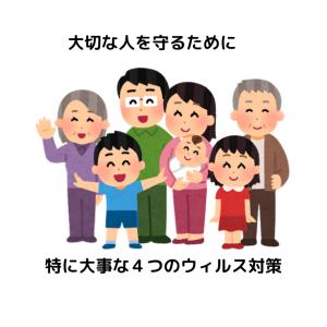 【コロナ・インフル・風邪】大切な人を守るために特に大事な4つのウイルス対策
