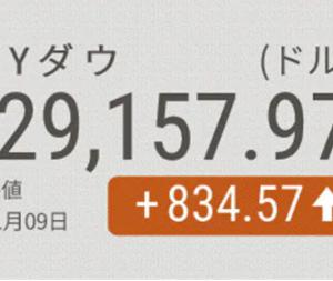 2020/11/10  NYダウ急反発834ドル高