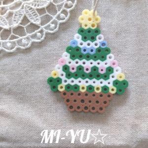 アイロンビーズ(パーラービーズ)でクリスマスオーナメントを☆クリスマスツリー