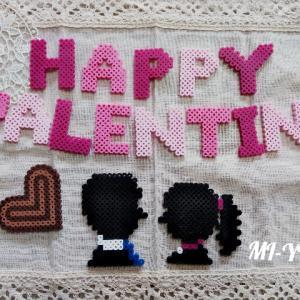 バレンタイン♡インテリア☆アイロンビーズ minneで販売します!
