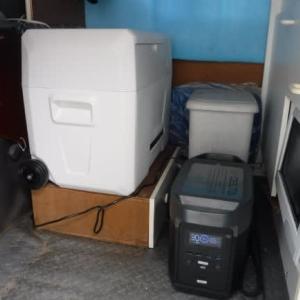 車載対応冷凍庫とポータブル電源