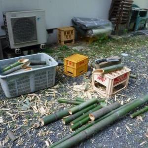 竹の花筒作り