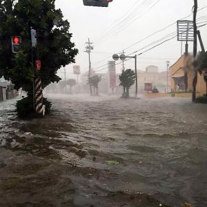 笑いごとではない沖縄の台風