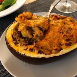 Eggplant Oven Roasted in Gratin Style