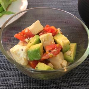 Tofu Salad with Avocado & Tomato