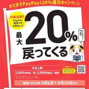 PayPay 20%還元キャンペーン中♪