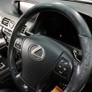 自動車内装修理#246 レクサス/LS600h 革ハンドル/ステアリングの傷・劣化・擦れ補修