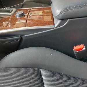 自動車内装修理#269 日産/フーガ 革シートたばこ焦げ穴跡補修