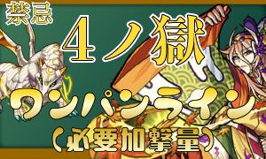 禁忌の獄(4/四ノ獄)ワンパンラインまとめ